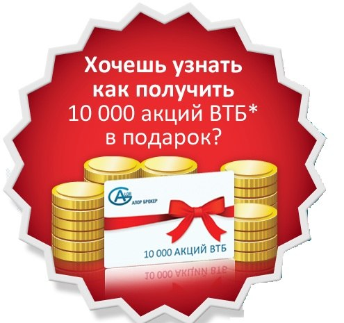 Акции втб в подарок алор в Шарье,Аксеново-Зиловском