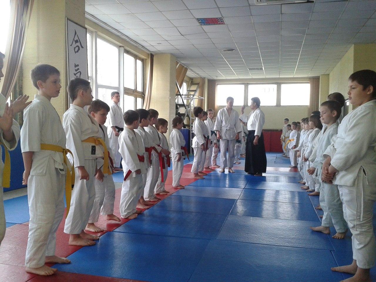 Детская тренировка с сенсеем Нагано