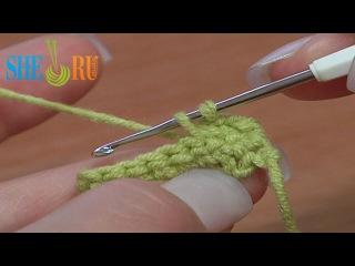 Вязание крючком для начинающих: Урок 5. Как вязать крючком столбик без накида
