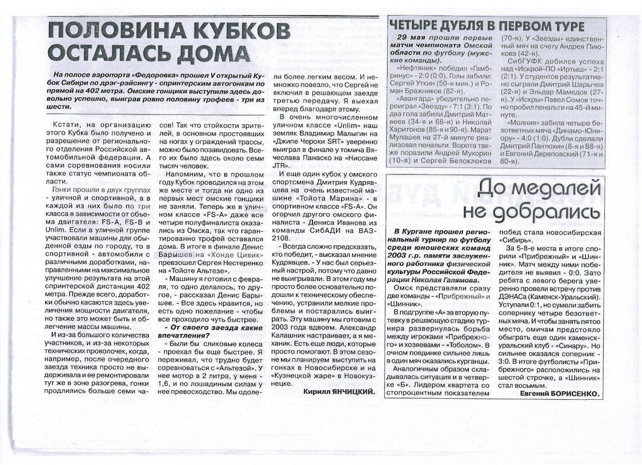 Кубок Сибири 2012