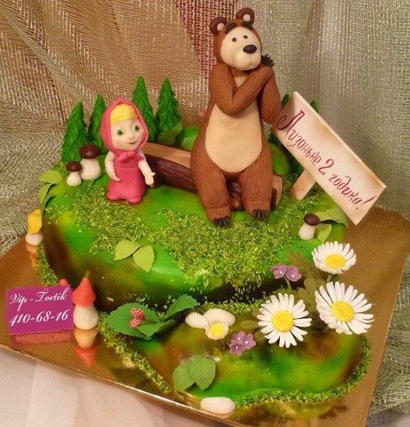 Торт Машенька и медведь.