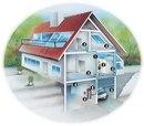 Схема установки центрального пылесоса в индивидуальном доме.