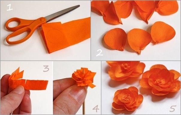 Сделать розу из цветной бумаги своими руками