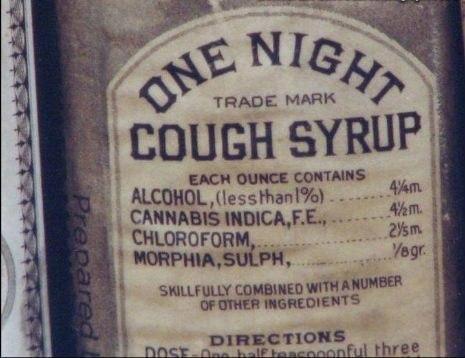 Таким был сироп от кашля более 100 лет тому назад.