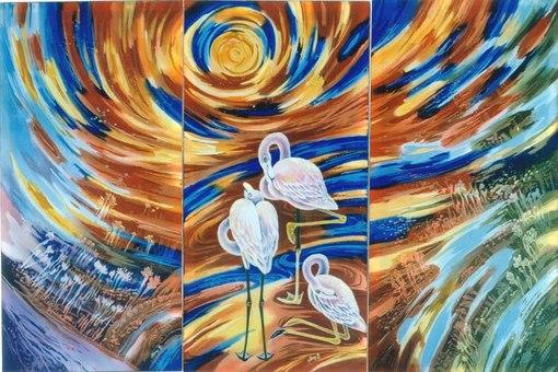 Триптих - произведение искусства, состоящее из трёх картин, барельефов и др., объединенных общей идеей .