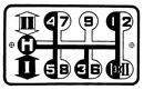 При перемещении ручки назад кран...  Рис. 10.  Схема управления рычагом коробки передач.