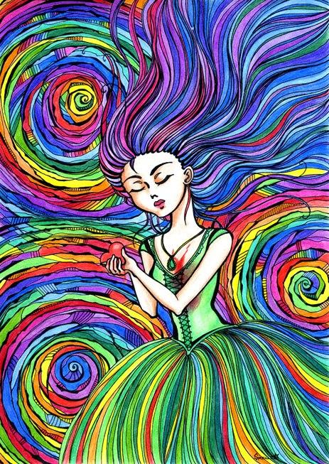 Картинки с разноцветными кляксами имеет