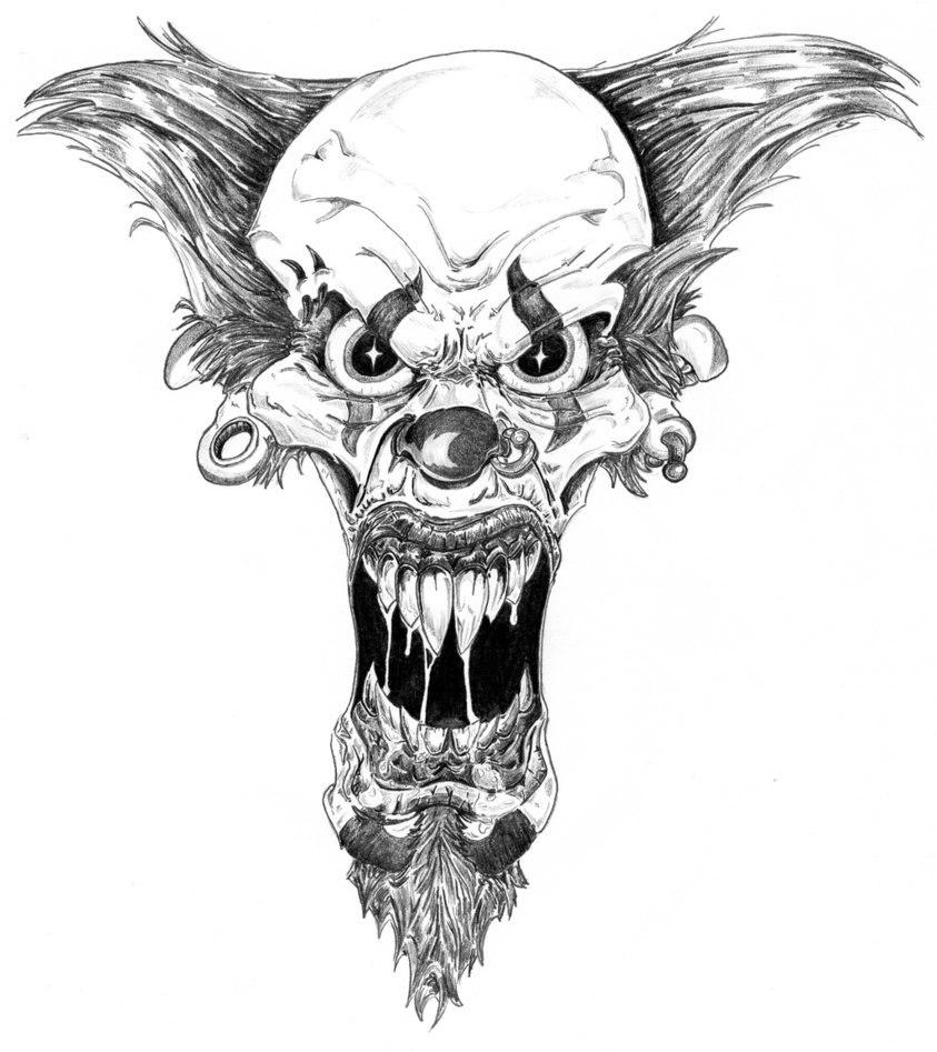 Эскизы клоун