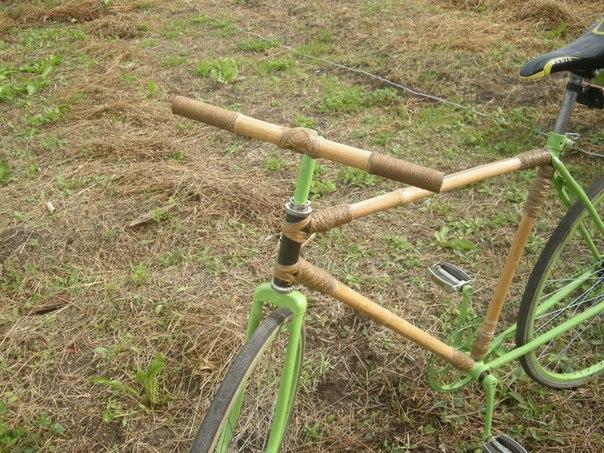 Радомишлянин склав велосипед з бамбуку