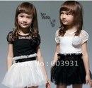 """""""Му """" девочек одежда детская юбки платья, короткие рукава летом 2013 Корейский внешней торговли baby девочек юбки."""