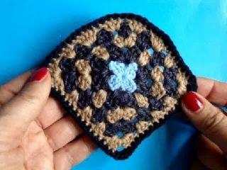 Вязание крючком Урок 226 Квадрат со скруглением Crochet motif