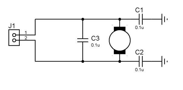 Схема мотора для левой и