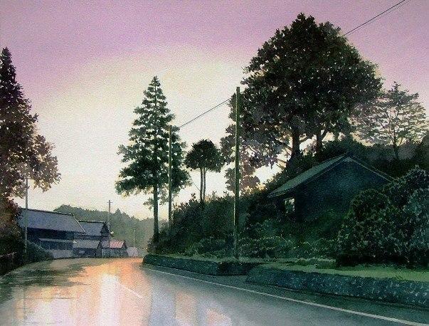 Пейзажи японского акварелиста abe toshiyuki
