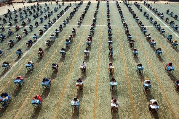 Как в китае сдают экзамены
