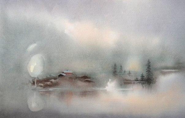 Акварельные пейзажи от художника Bragerygg