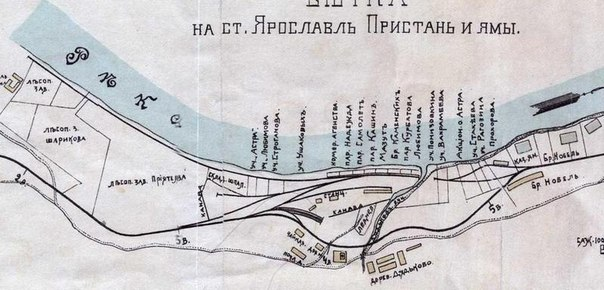 1911 год. карта Разроднова. Деревня Дядьково