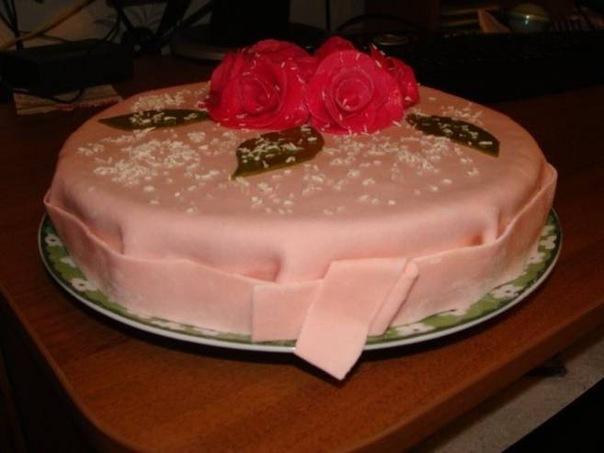 рецепт тортов: торт из мастики своими руками.