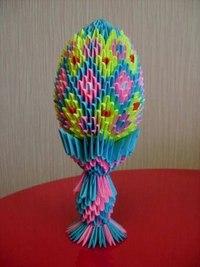 Поделка изделие Пасха Оригами китайское модульное Пасхальное модульных схем,ей модульное оригами яйцо пасхальное...