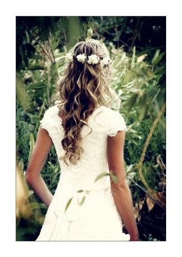 Прическа для свидетельницы на свадьбу.