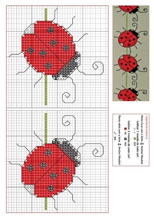 Схема вышивки крестом для футболки