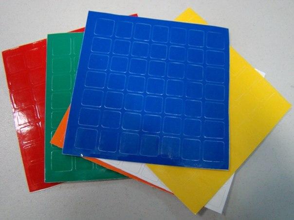 Наклейки 7х7х7 для кубиков