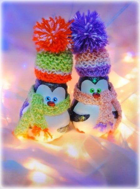 Новогодние игрушки своими руками с лампочек