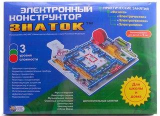 Электронный конструктор Знаток 999 схем + Школа.