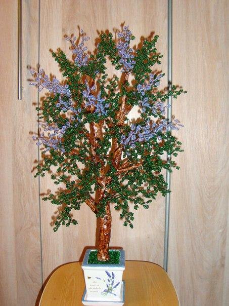Стоимость деревья и цветы из бисера