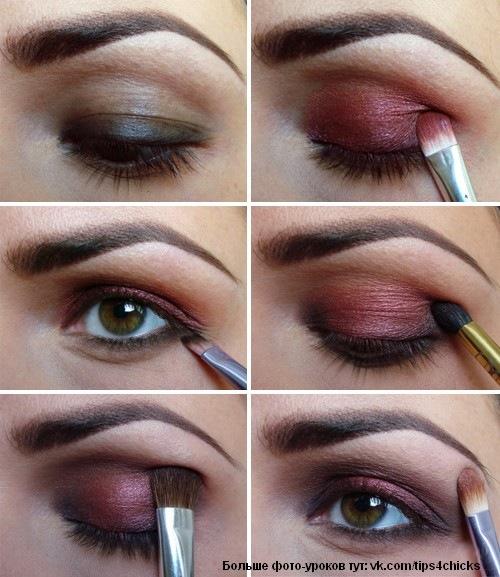 Макияж для карих глаз брюнеток фото поэтапно фото и как делать урок.