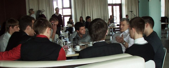 Сергей Петров отвечает на вопросы будущих предпринимателей