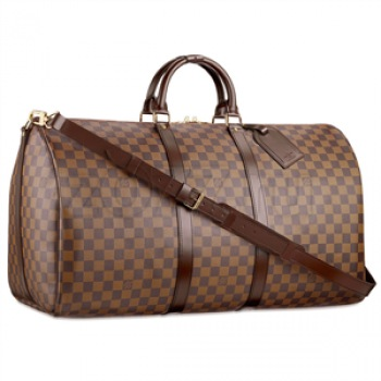 Дорожная сумка Louis Vuitton.  C 2 ручками и регулируемым несущим.