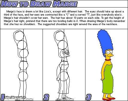Как нарисовать Симпсонов, Гомер, Лиза, Барт, Мардж.