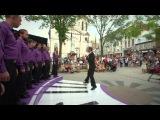 Флэшмоб-новости: живое пианино, на котором играют ногами... Пробовали? #streetmusical