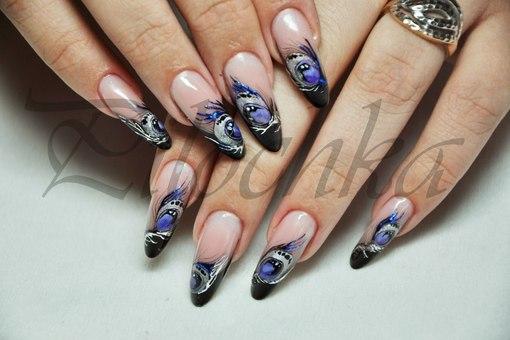 дизайн овальных ногтей:
