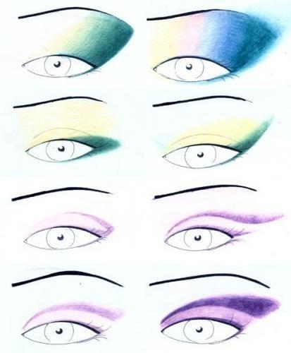Схемы накрасить глаза
