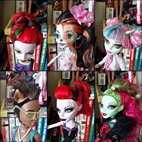 Как сделать куклам монстр хай причёску
