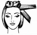 Ракушка из недлинных волос. стрижка волос теменной зоны.
