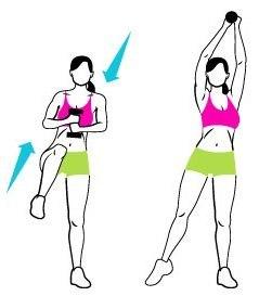 как убрать живот и бока упражнения лежа