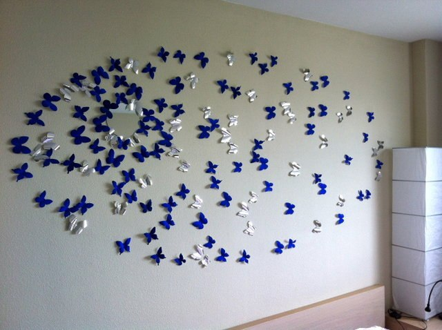 Декор стены своими руками из бумаги