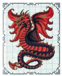 При помощи этих схем вы сможете вышить символ следующего года Дракона, во...  Схемы вышивки крестом Дракон, фото...