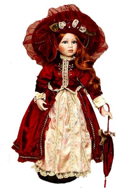 Фарфоровые куклы это лучший стиль платьев для кукол на сегодняшний день.