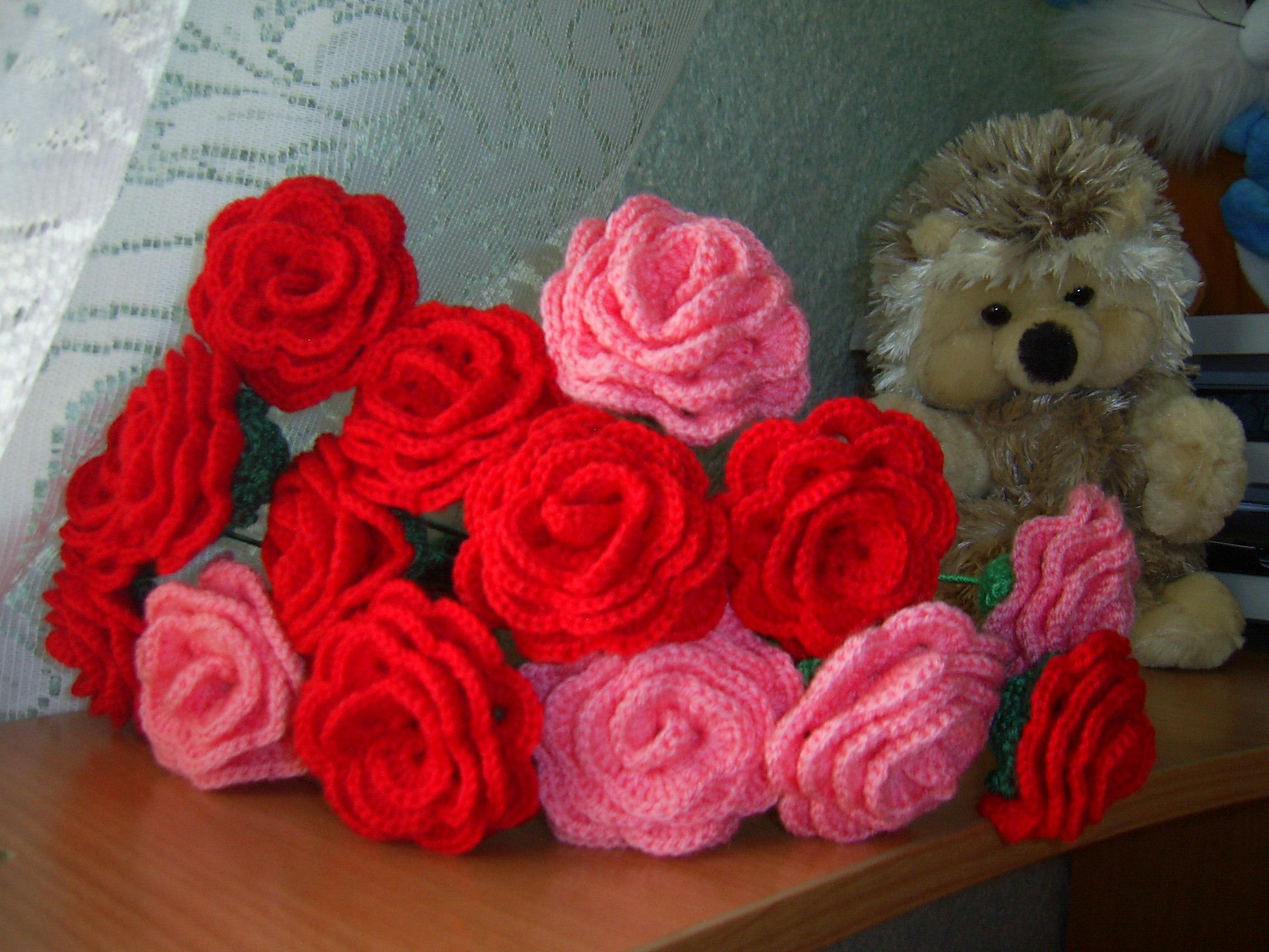 Вязаные цветы картинки 3