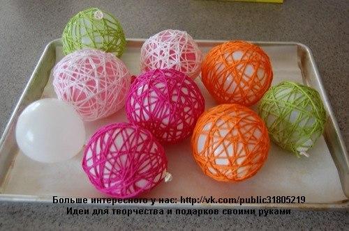 Как сделать шары из ниток - shariki-iz-nitok.