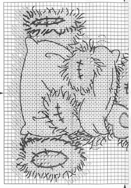 Вышивка крестиком мишки teddy