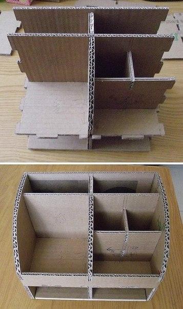 Органайзер из коробок фото