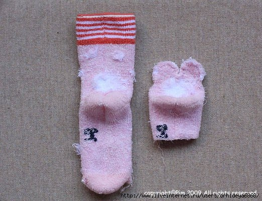 Meškiukas iš kojinių