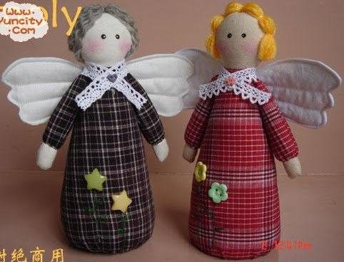 Текстильный ангел своими руками