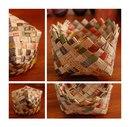 простая плетеная корзинка со схемой.