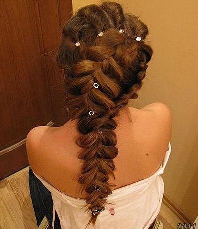 Красивые косы на длинные волосы фото - 33