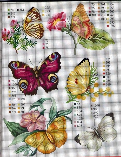 Ярлыки: бабочки, вышивка,